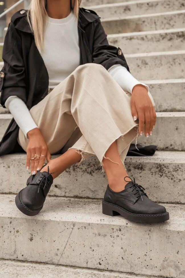 LUIGI DESING - Δερμάτινα Δετά Παπούτσια