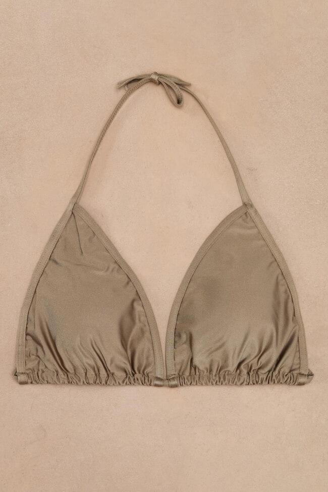 GIGI-Μαγιό Top Τριγωνάκι Μονόχρωμο Plus Size