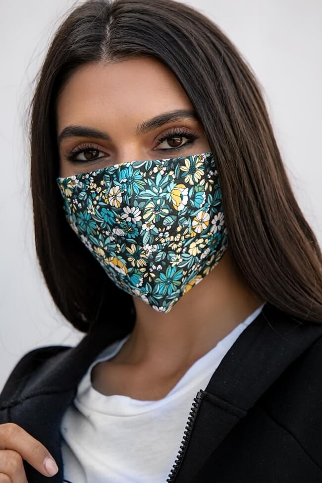Μάσκα Πολλαπλών Χρήσεων Υφασμάτινη Floral