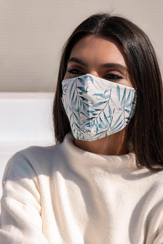 Μάσκα Πολλαπλών Χρήσεων Υφασμάτινη Φύλλα