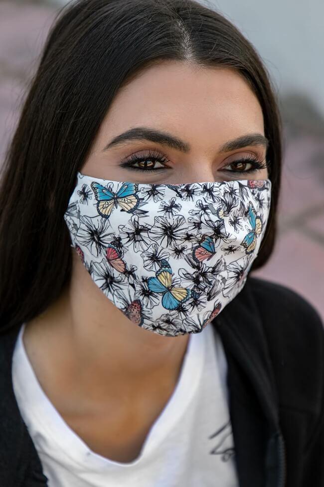 Μάσκα Πολλαπλών Χρήσεων Υφασμάτινη Πεταλούδα