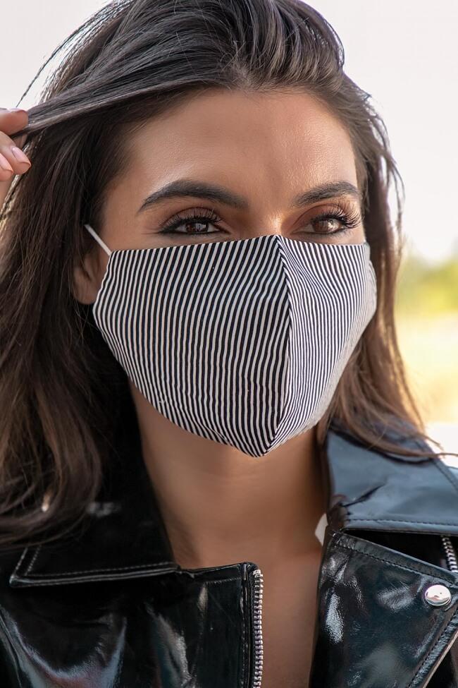 Μάσκα Πολλαπλών Χρήσεων Υφασμάτινη Ριγέ