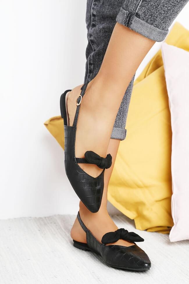 Μπαλαρίνες Open Heel με Φιόγκο
