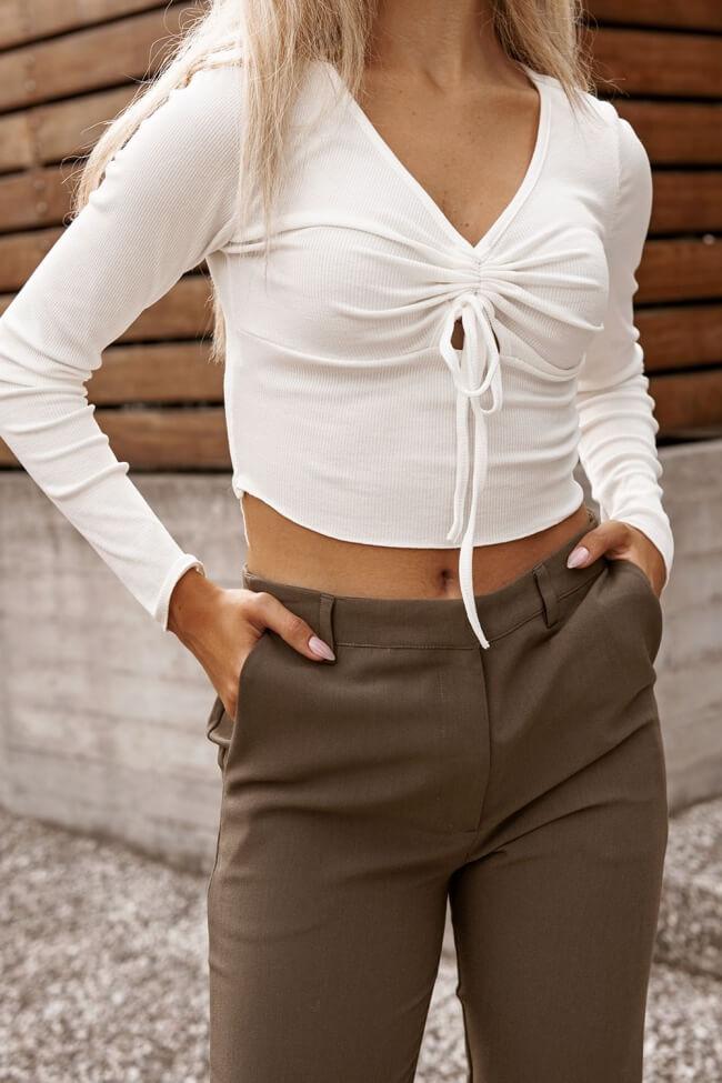 Μπλούζα Crop Top με Σούρα