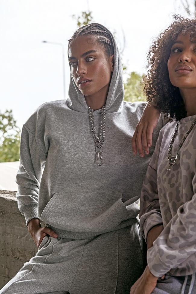 Μπλούζα Φούτερ με Κουκούλα και Τσέπη