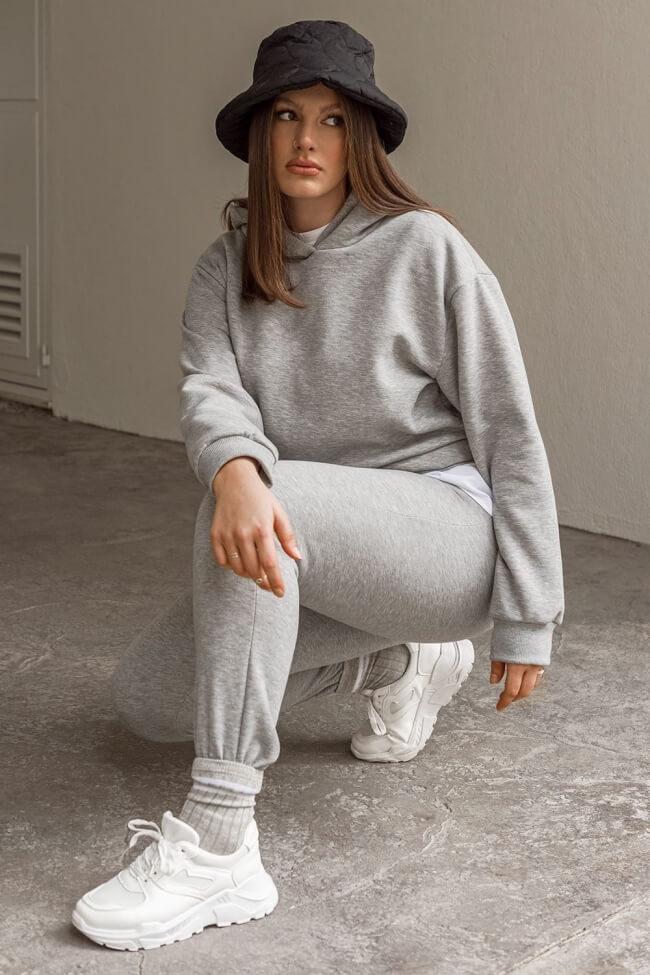 Μπλούζα Φούτερ με Κουκούλα Plus Size