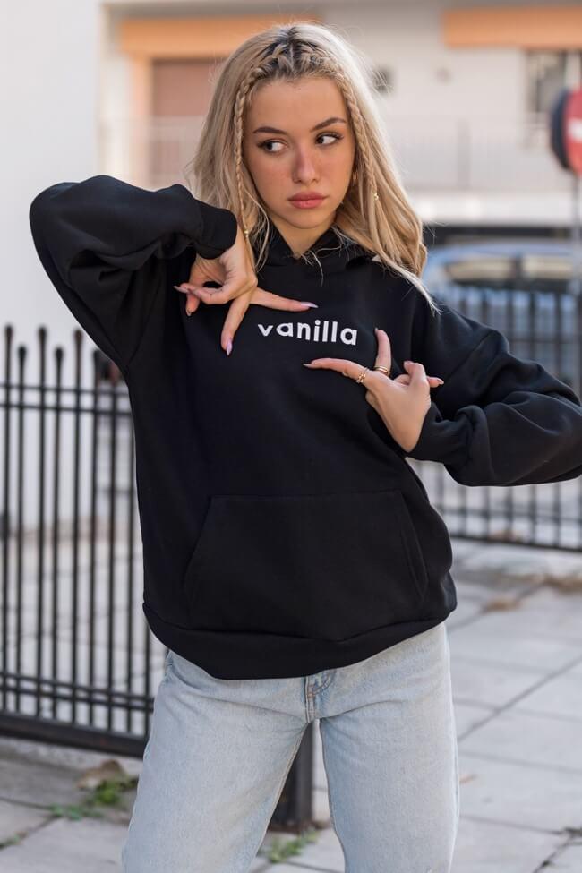 Μπλούζα Φούτερ με Κουκούλα VANILLA