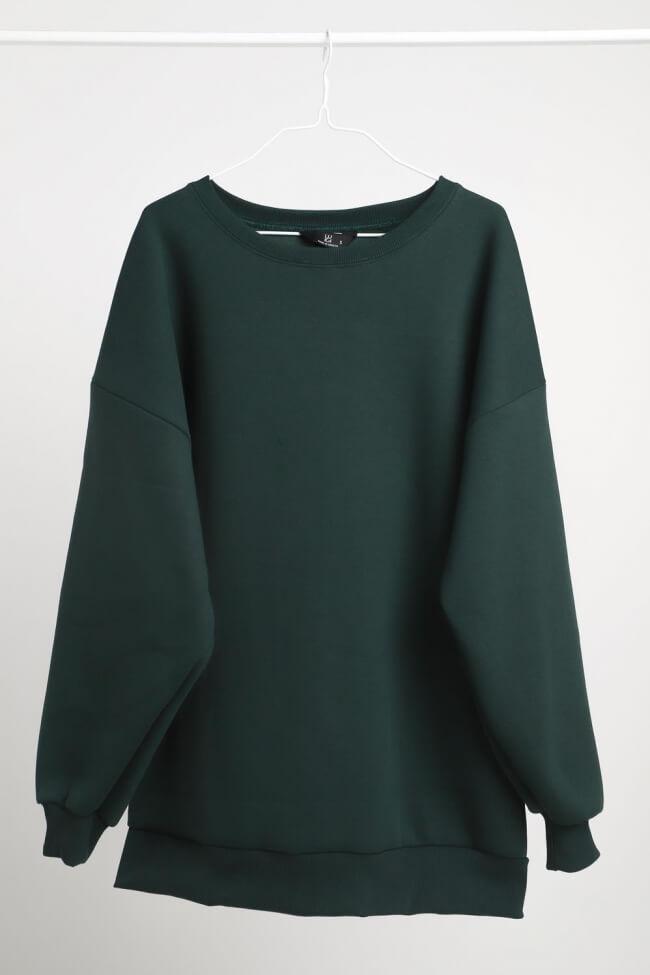 Μπλούζα Φούτερ Μονόχρωμη Oversized