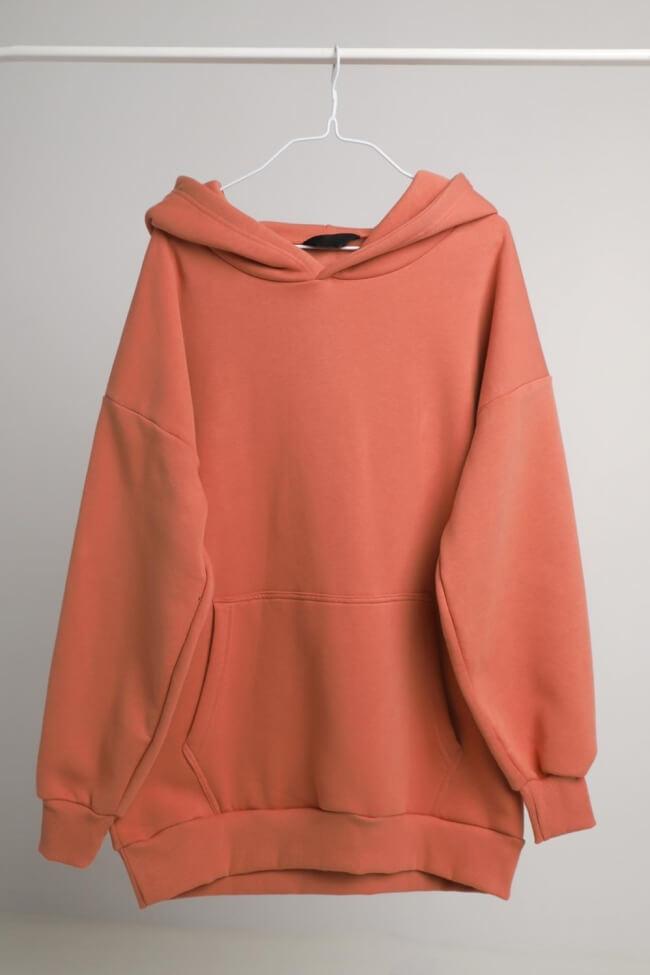 Μπλούζα Φούτερ Oversized με Κουκούλα και Τσέπη