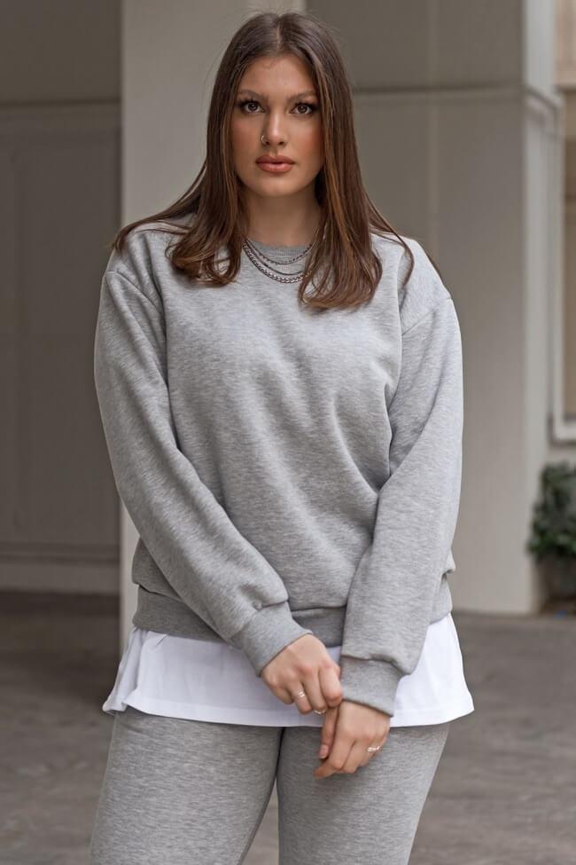 Μπλούζα Φούτερ Plus Size