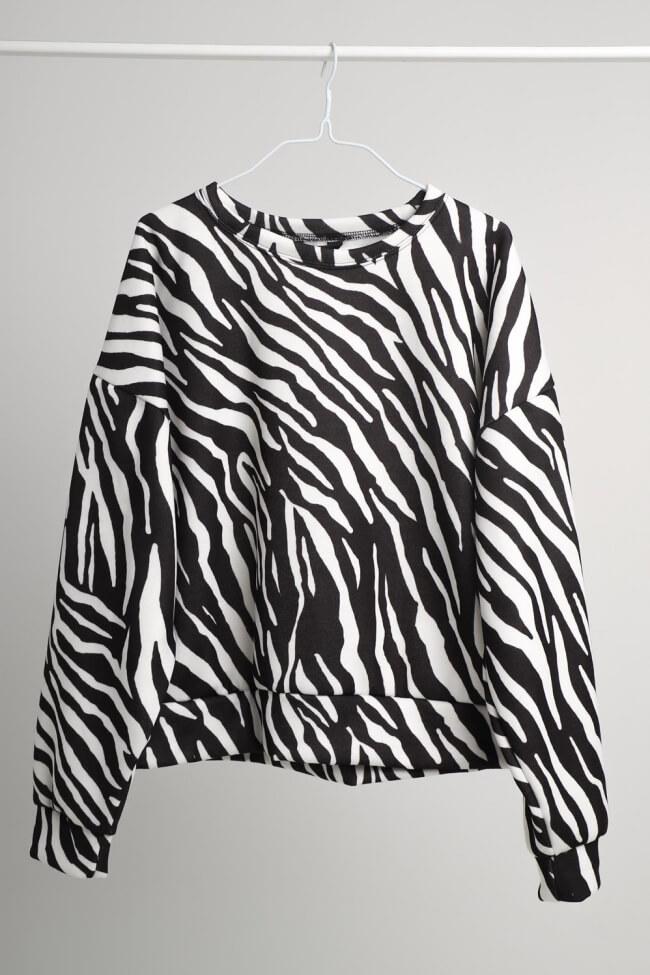 Μπλούζα Φούτερ Zebra Print