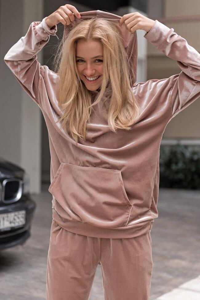 Μπλούζα με Κουκούλα Velvet