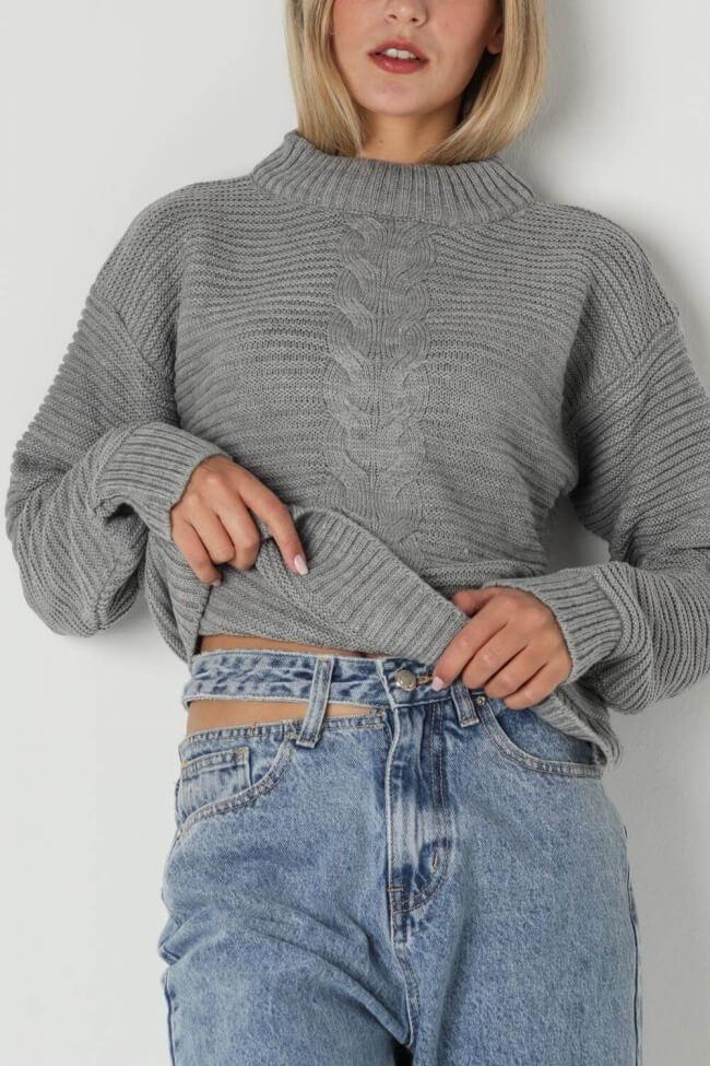 Μπλούζα Πλεκτή Cable Knit