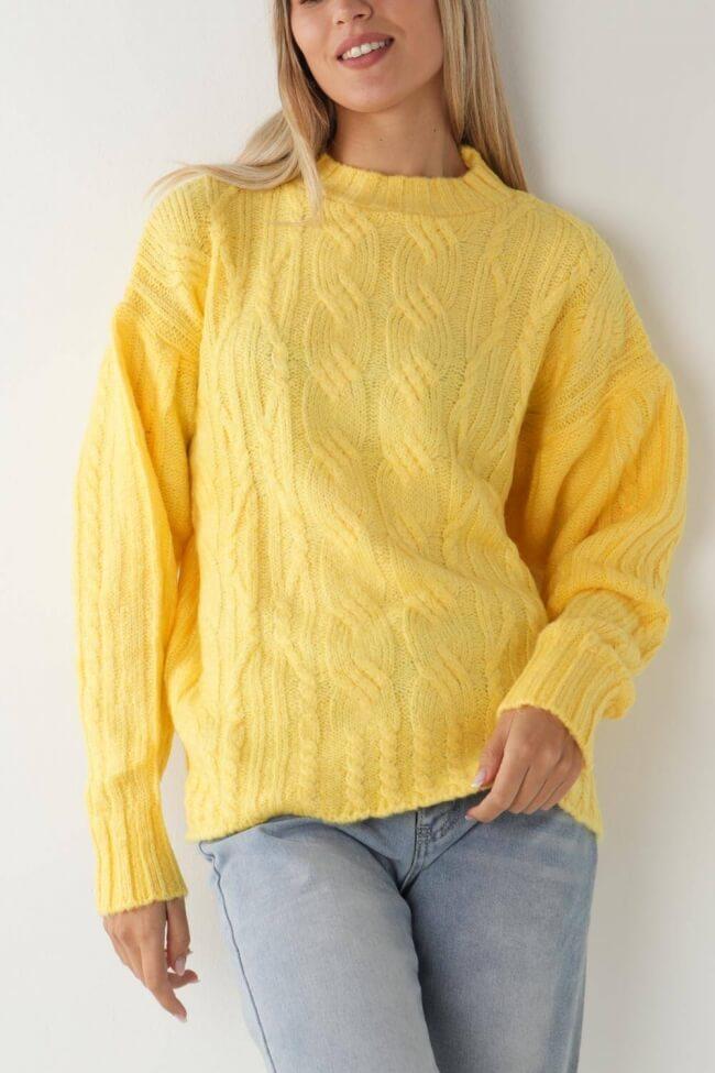 Μπλούζα Πλεκτή με Σχέδιο στο Μανίκι