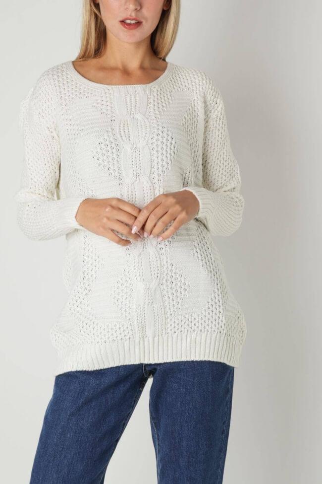 Μπλούζα Πλεκτή Pointelle Knit
