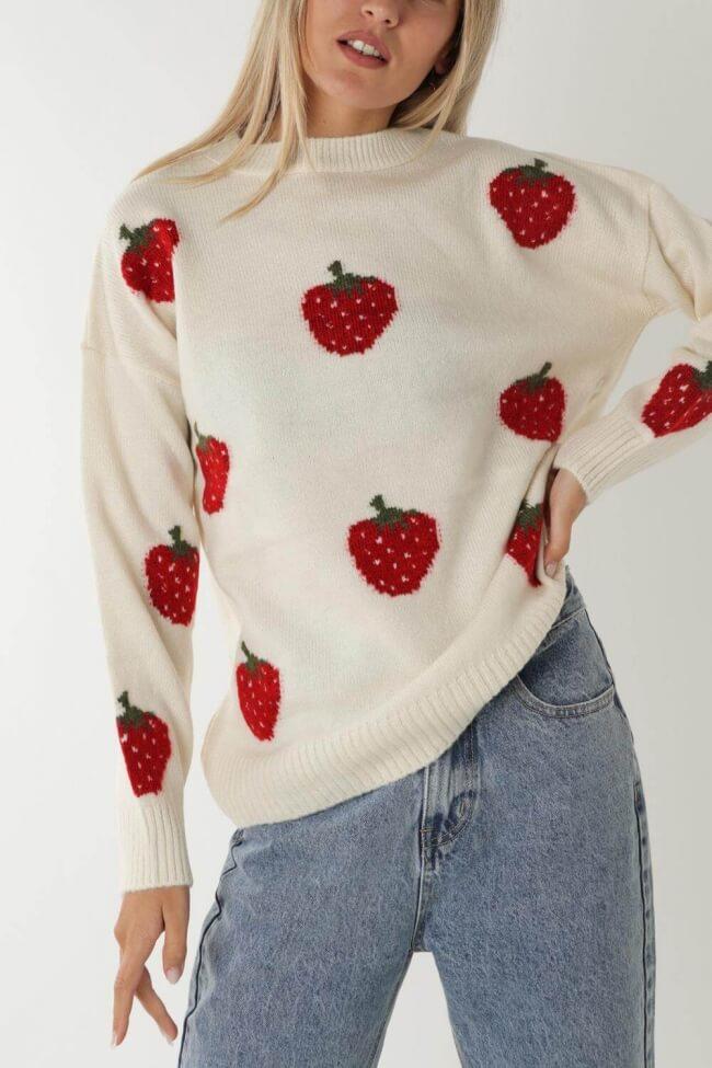 Μπλούζα Πλεκτή Strawberries