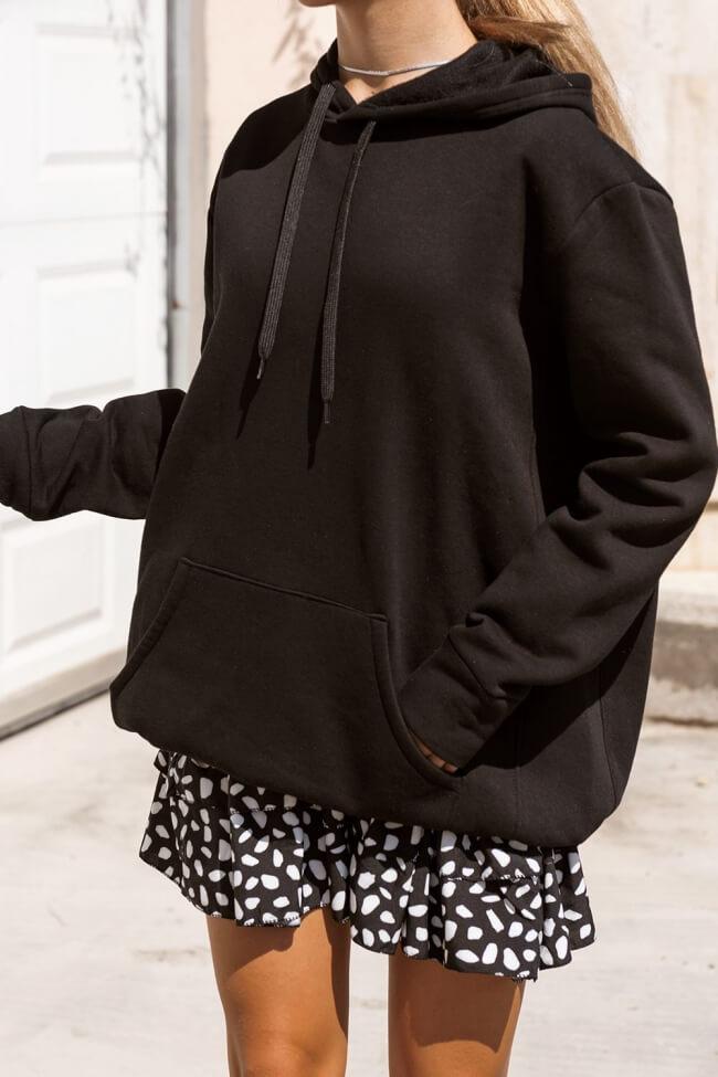 Μπλουζοφόρεμα Φούτερ με Κουκούλα