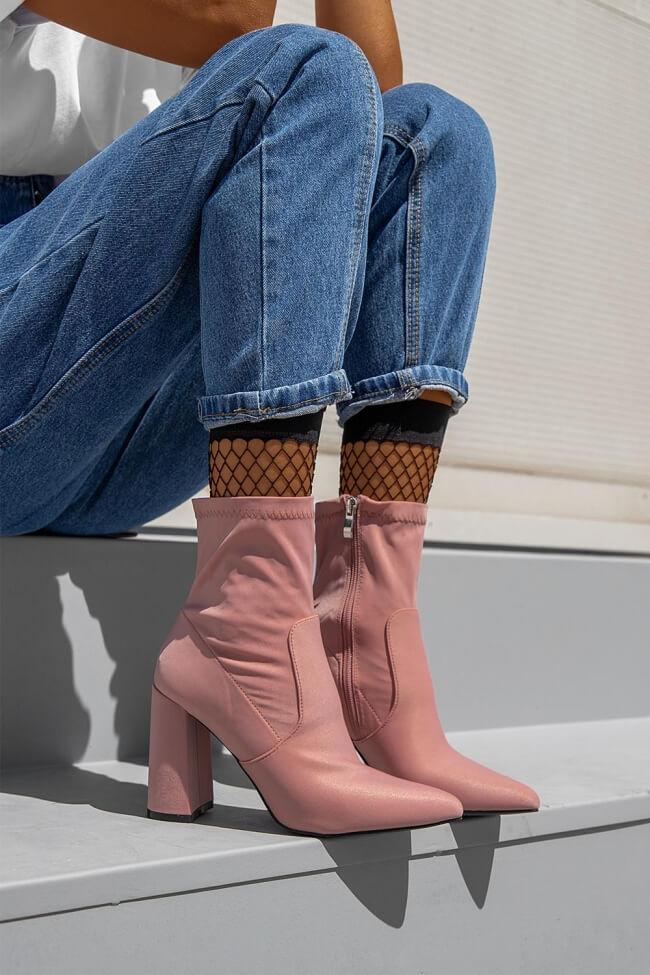 LUIGI DESIGN - Μποτάκια Κάλτσα Μυτερά
