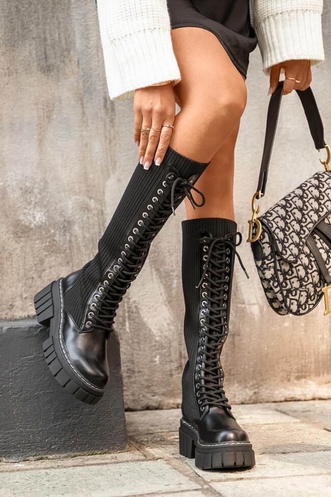 Μπότες Δίσολες Κάλτσα