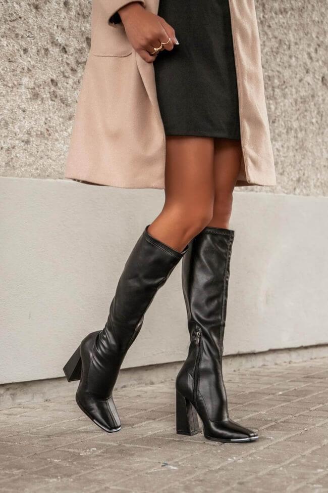 Μπότες Κάλτσα με Μεταλλική Μύτη