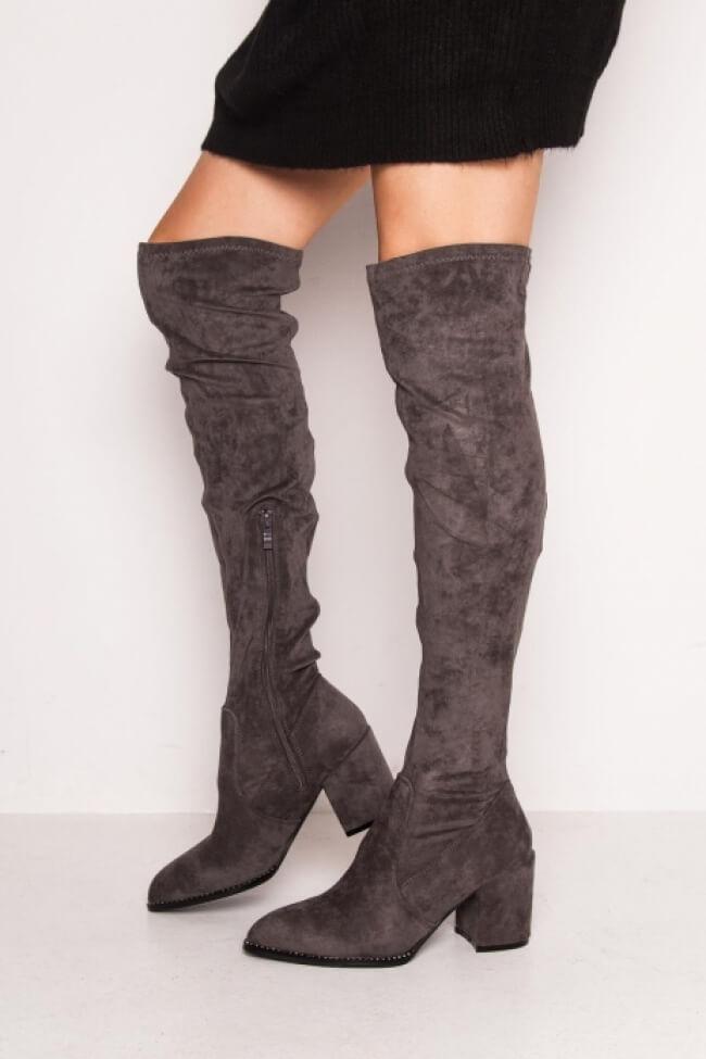 Μπότες Κάλτσα με Strass