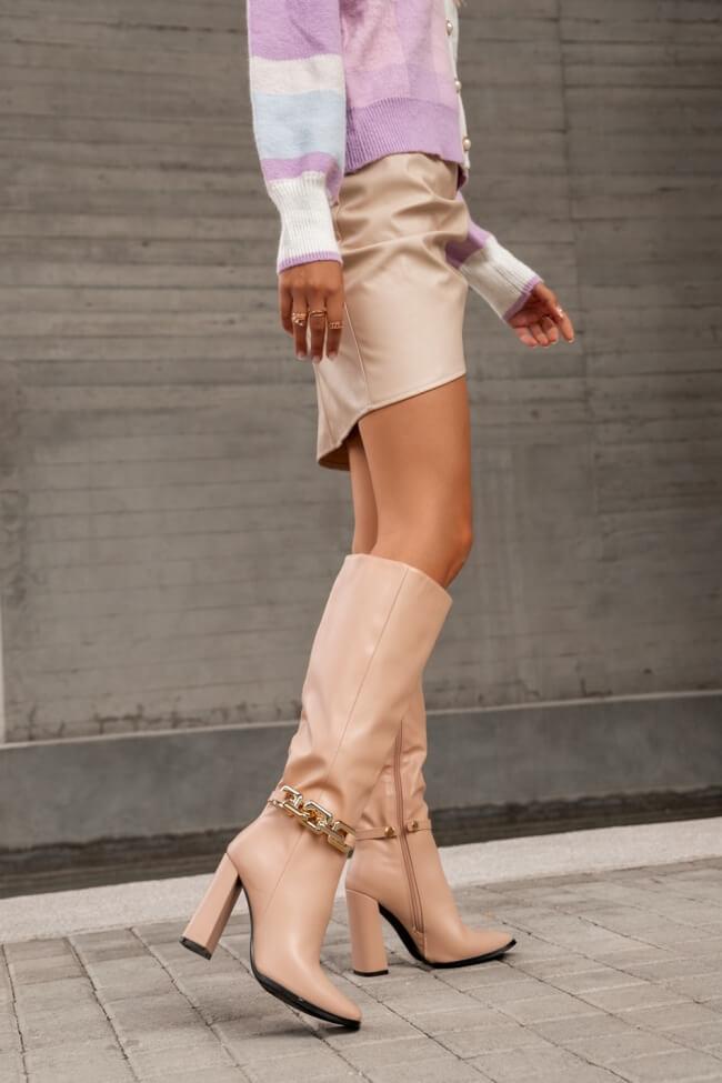 Μπότες με Διακοσμητική Αλυσίδα