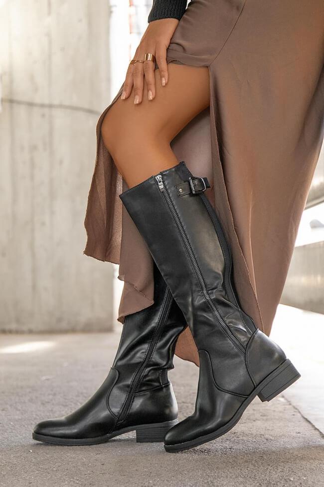 Μπότες με Διακοσμητικό Φερμουάρ