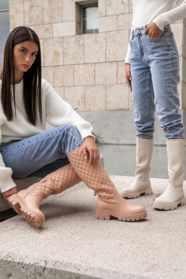 Μπότες με Σχέδιο Καπιτονέ