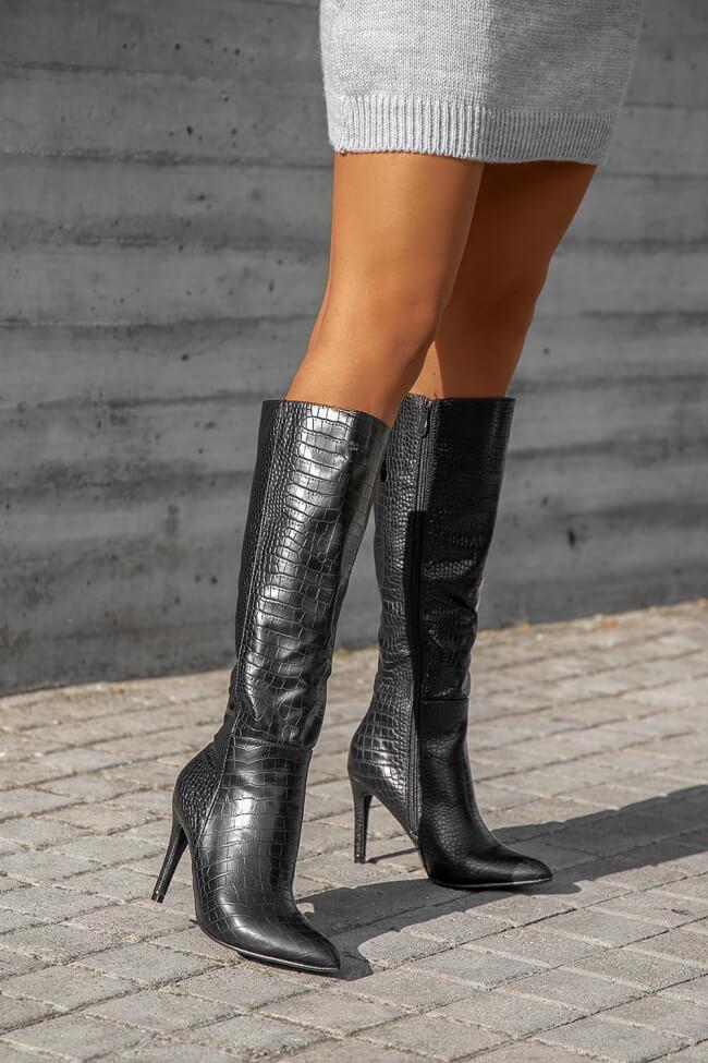 Μπότες Μυτερές Croco