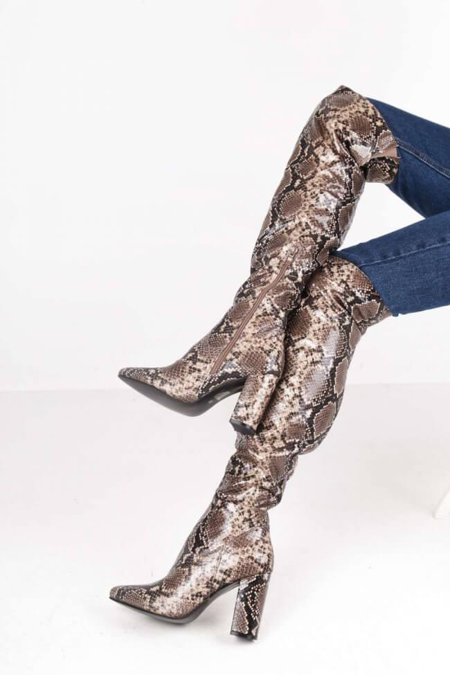 Μπότες Μυτερές Over the Knee
