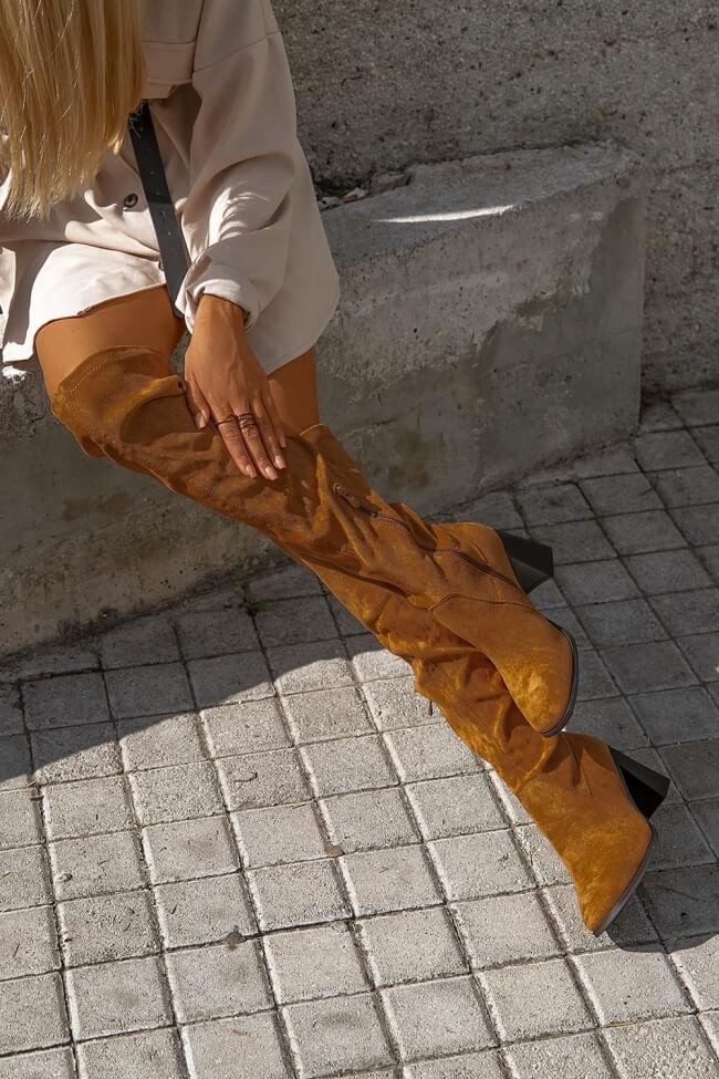 Μπότες Over the Knee Κάλτσα