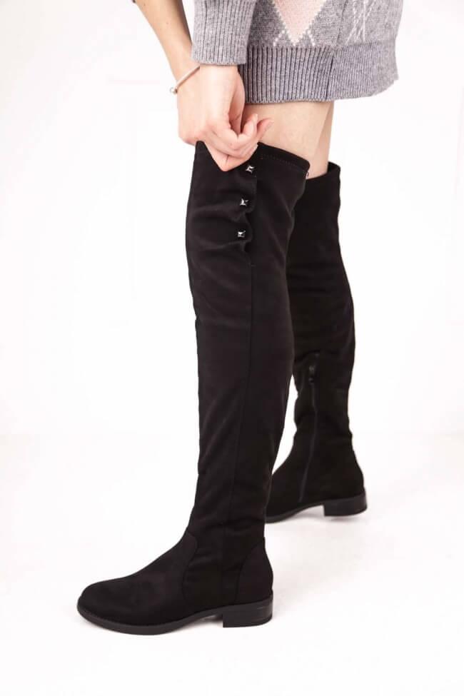 Μπότες Over the Knee με Διακοσμητικά Τρούκς