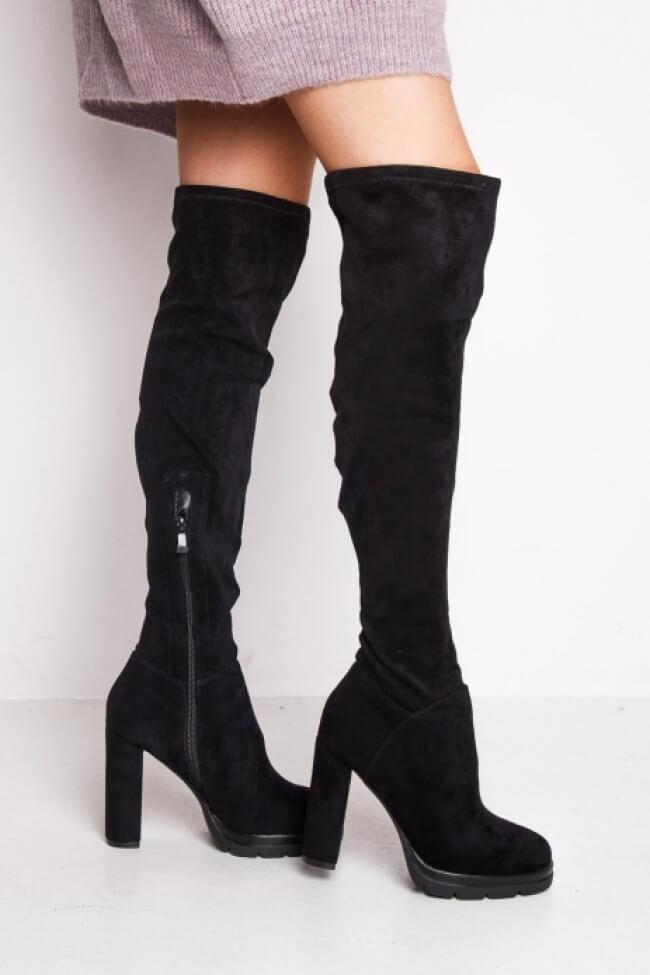 Μπότες Over the Knee με Φιάπα