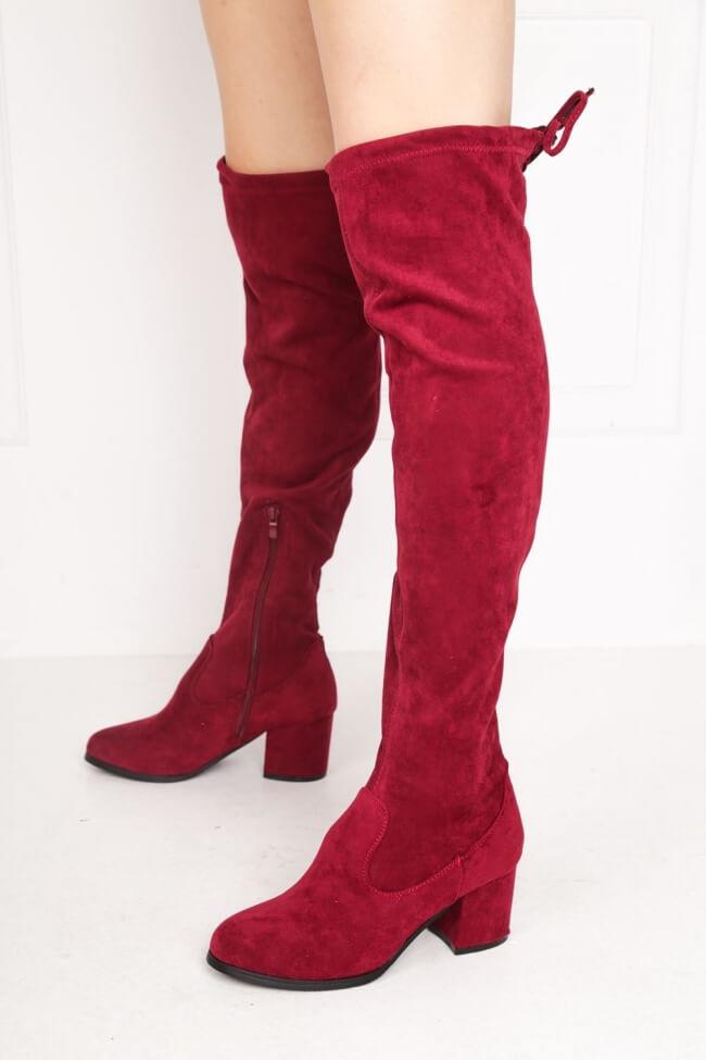Μπότες Over the Knee με Κορδόνια