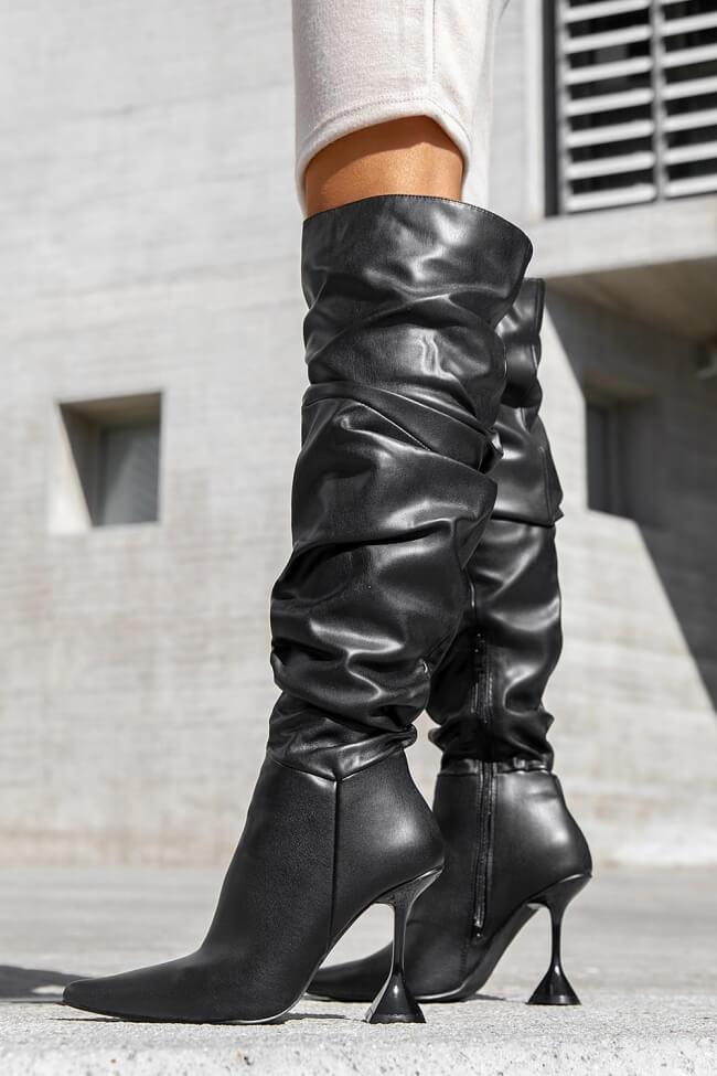 Μπότες Over the Knee με Σούρα