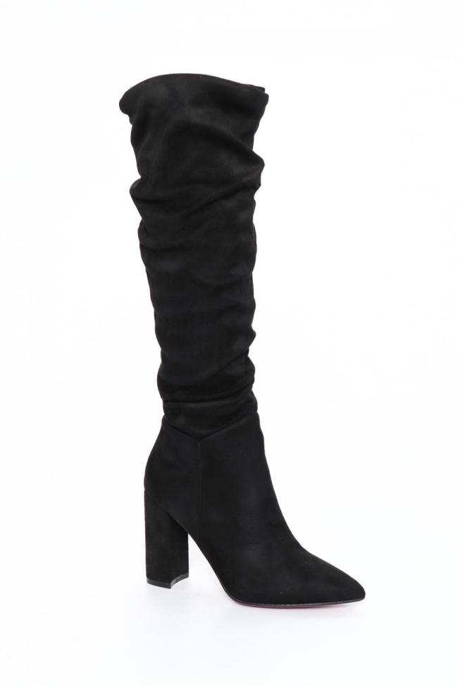 Μπότες Over The Knee με Σούρα & Φερμουάρ