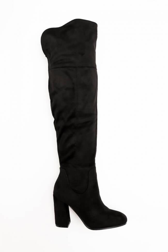 Μπότες Over the Knee με Χοντρό Τακούνι