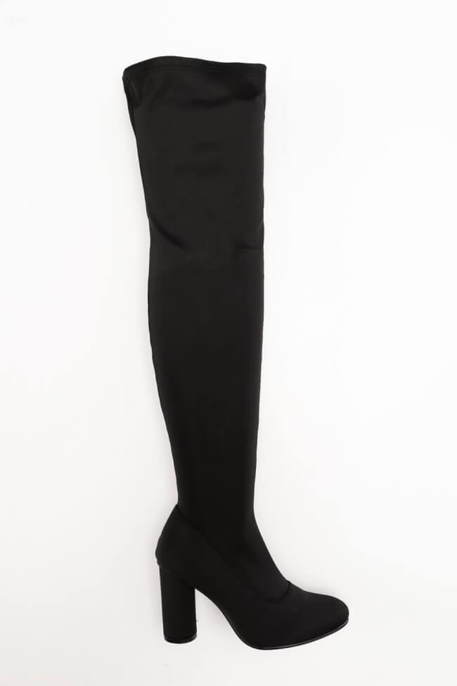 Μπότες Over the Knee Σατέν