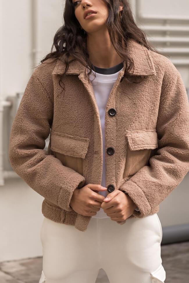Παλτό Κοντό Teddy