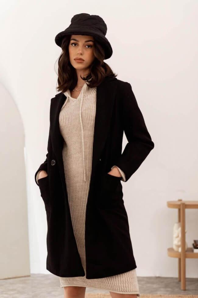 Παλτό με Διπλό Κουμπί