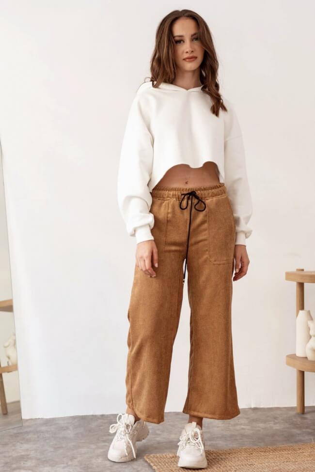 Παντελόνα Κοτλέ Zip Cullote