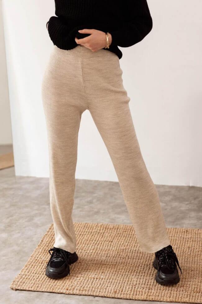 Παντελόνα Ριπ Straight Μονόχρωμη