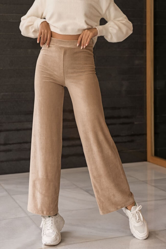 Παντελόνα Velvet Καμπάνα