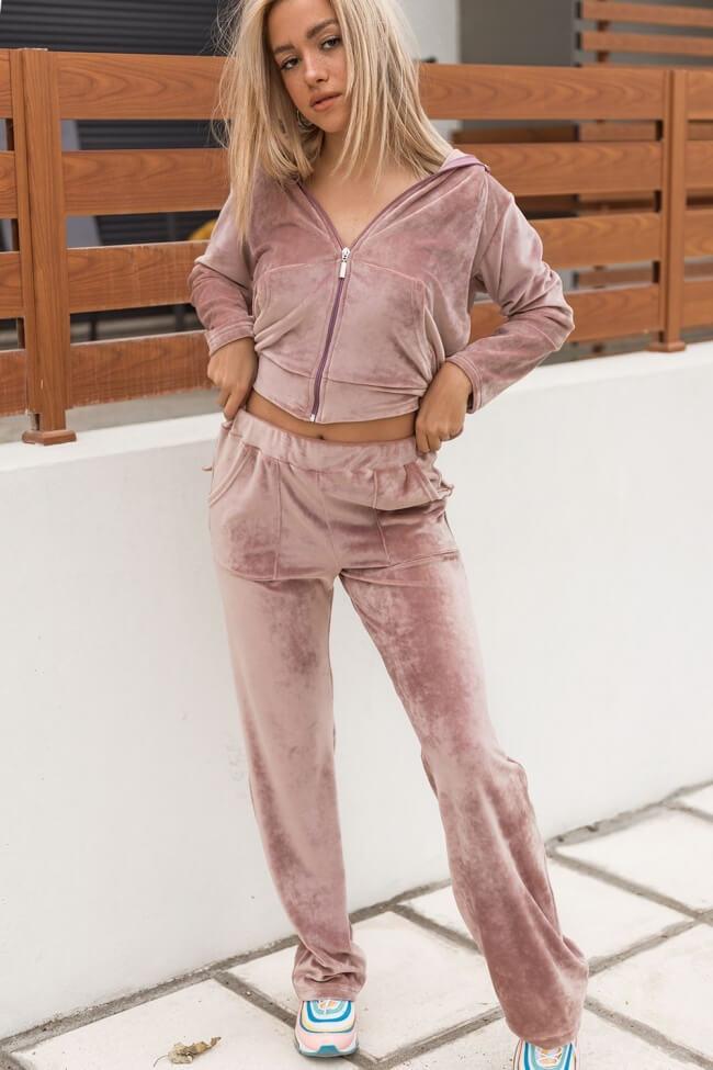 Παντελόνα Velvet με Εξωτερικές τσέπες