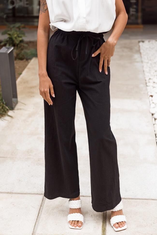 Παντελόνα Zip Cullote Highwaisted με Κορδόνι
