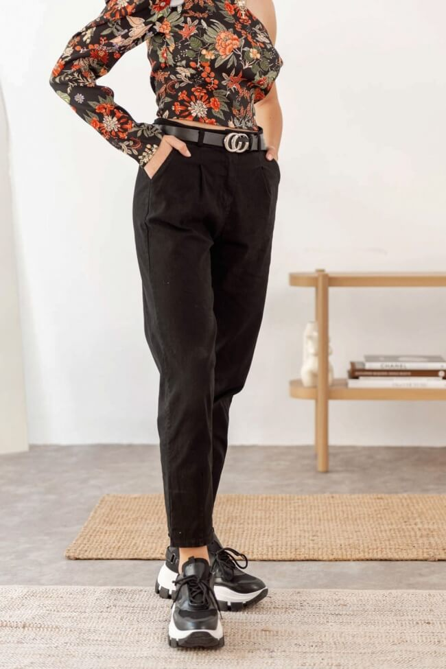 Παντελόνι Baggy με Ζώνη