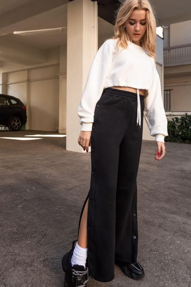 Παντελόνι Φόρμα με Κουμπιά