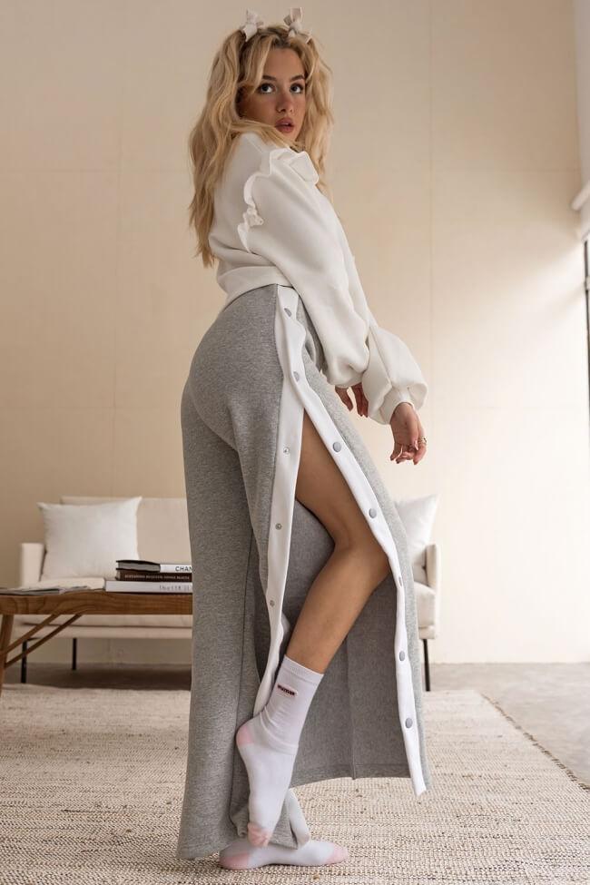 Παντελόνι Φόρμα με Κουμπιά στο Πλάι
