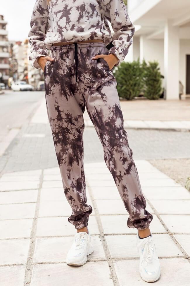 Παντελόνι Φόρμα Tie Dye με Λάστιχο