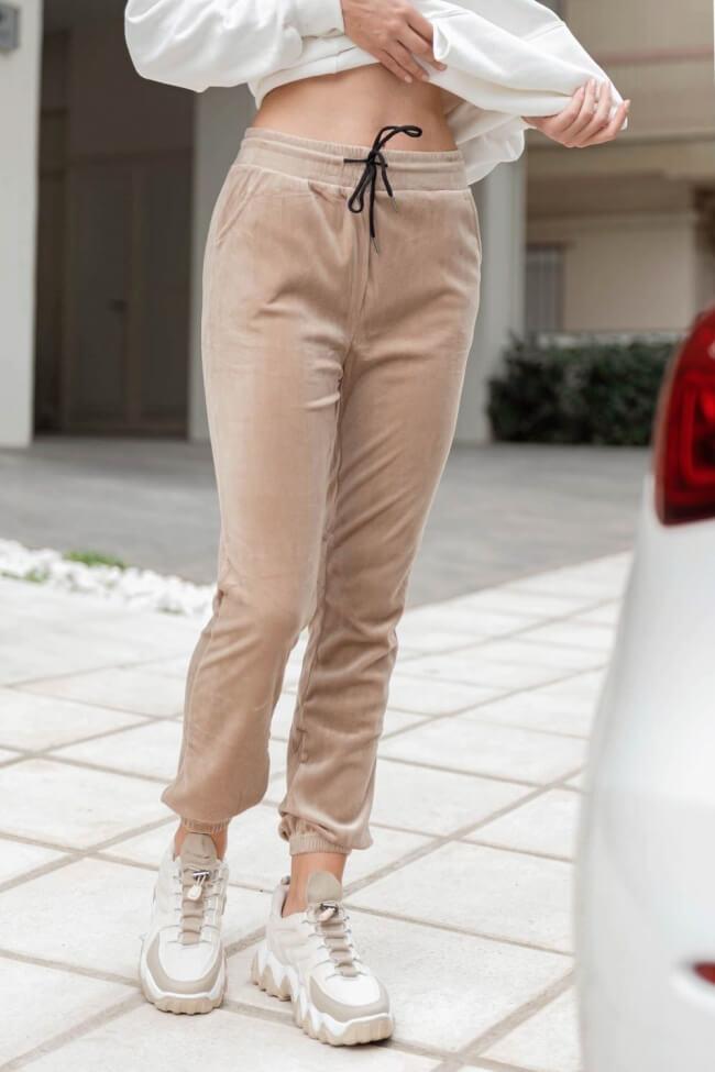 Παντελόνι Φόρμα Velvet με Λάστιχο